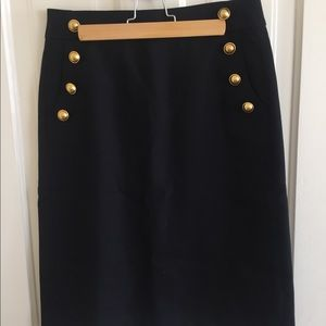 Loft black knee-length skirt, 2